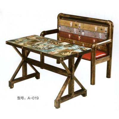 美式西餐厅复古铁艺工业风火锅店烤鱼店汉堡咖啡厅奶茶小吃店桌椅
