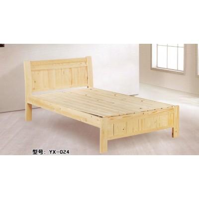 现代简约实木床经济卧室家具双人床柏木租房简易床