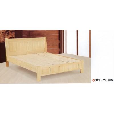 双人床简约现代原木双人实木床经济型主卧床单人床