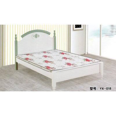 住房家具现代简约板式床 地中海风格双人床 白色烤漆床