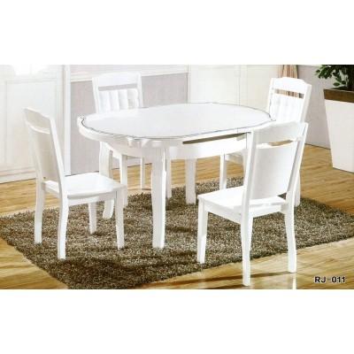 简约现代客厅大理石冰花餐桌靠背椅子实木伸缩餐桌