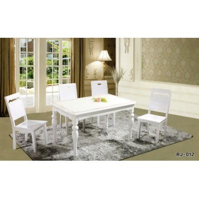 餐桌简约大方桌子田园风橡木餐桌全实木餐桌椅组合