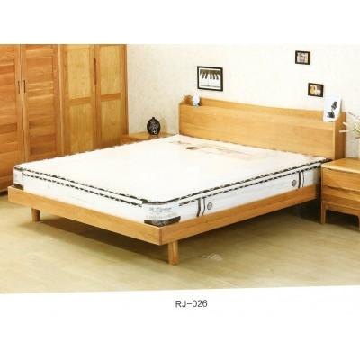 纯实木白橡木双人床环保卧室家具北欧现代简约