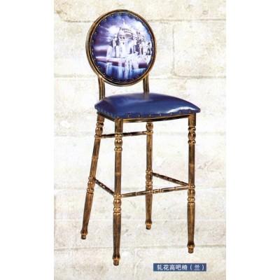 欧式吧台椅酒吧椅子美式复古吧椅吧凳铁艺高脚椅吧台咖啡凳前台椅