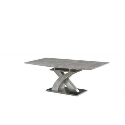 时尚不锈钢大理石餐桌简约现代饭桌小户型长方形