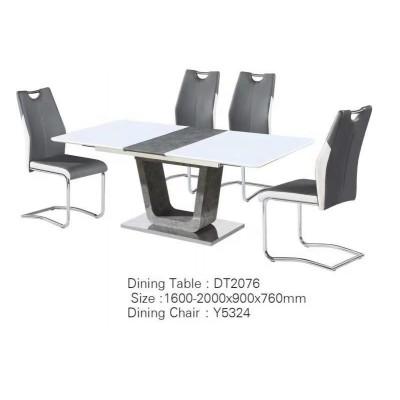 餐桌 钢化理石餐台 苹果系列现代时尚餐桌椅