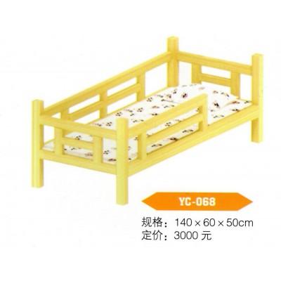幼儿园专用床儿童午睡原木樟子松实木双人上下高低床床四人推拉床