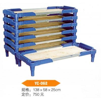 幼儿园儿童午休午睡专用床儿童塑料木板床托管塑料小床叠叠床