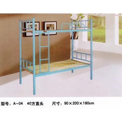 双层实木床 学生高低床 员工宿舍上下铺 松木双人床