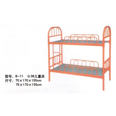 易于使用双层上下铺铁架床员工床成人铁床学生宿舍床工地高低床