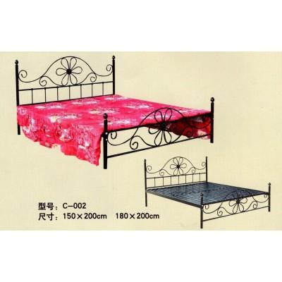 欧式铁艺床双人床铁床单人床现代简约铁架床成人公主床