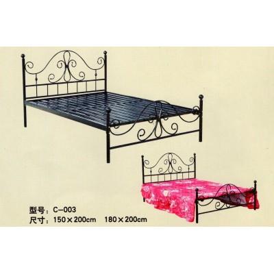 欧式铁艺床双人床现代简约铁床公主床单人铁架床成人