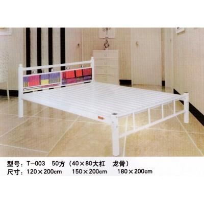 加厚铁艺单层床单人铁板床员工宿舍单层床学生铁架床单人床