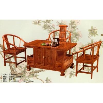 实木茶桌椅组合中式仿古茶几明清古典功夫茶台茶艺榆木简约将军台