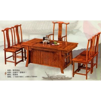 茶桌椅组合功夫茶中式简约泡茶台实木仿古茶艺桌多功能喝茶桌