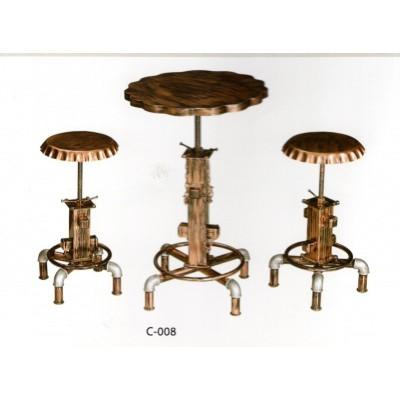 美式吧台椅实木酒吧椅凳子吧台桌家用美式吧凳靠背吧椅旋转高脚凳