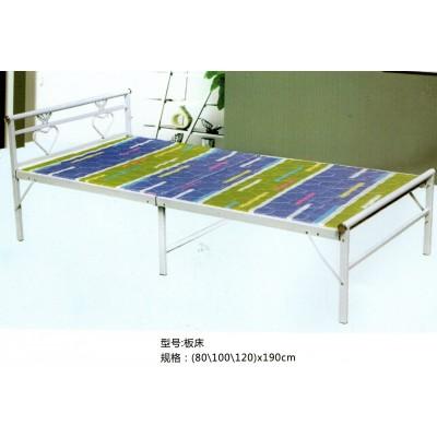 折叠床单人午休床简易铁艺两折午休床家用便携式成人午睡床经济型
