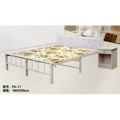 双人床午休床折叠床出租房多功能简易加厚小户型加宽铁床