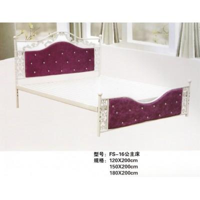 铁艺软靠双人床架子床公主床宾馆公寓出租床欧式环保