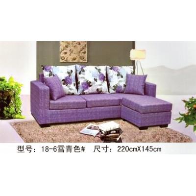 布艺沙发L型转角组合 客厅家具简易沙发可拆洗 大小户型适用