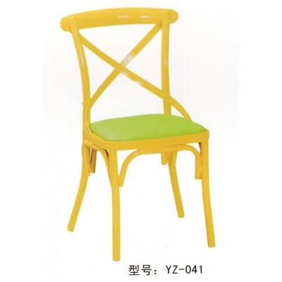 咖啡馆桌椅复古西餐厅奶茶甜品店靠背铁艺椅子小吃快餐桌餐椅组