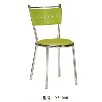 简约电镀硬皮快餐椅餐厅饭桌饭店家居餐凳子奶茶店
