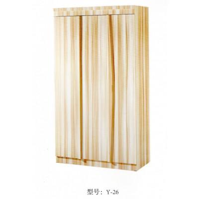 简约2门衣柜小户型卧室组装经济型实木质单人成人3门对开门衣柜