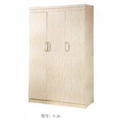 简约三门四门衣柜 现代板式储物柜组合整体木质平开门大衣橱