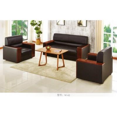 办公沙发茶几组合简约现代办商务会客单人三人位皮艺沙发