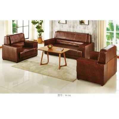 办公家具办公复古沙发会客沙发木扶手简约时尚现代办公沙发