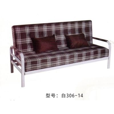 简易可折叠沙发床多功能小户型客厅卧室布艺单人双人沙发鸿运家具