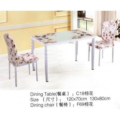 餐桌椅实木地中海风格组合现代小户型折叠家用新华峰家具