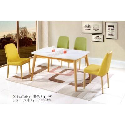 餐桌椅组合现代简约家用小户型实木餐桌新华峰家具