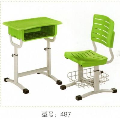 塑料塑钢幼儿园桌椅专用长方形课桌椅学生连凳单人桌子华宇家具