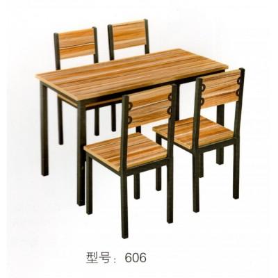 快餐桌椅组合奶茶店饭店餐厅快餐店小吃店食堂专用桌华宇家具