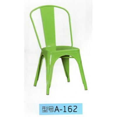 欧式铁艺餐椅铁皮椅金属椅子餐厅户外咖啡椅东福超强