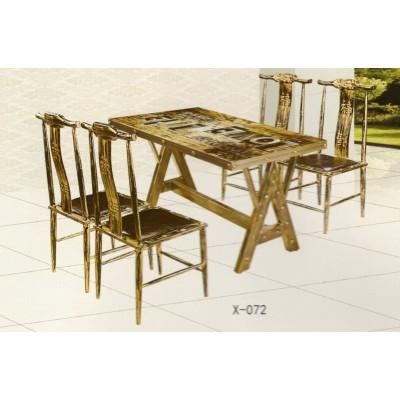 主题复古西餐厅咖啡厅小吃店餐桌椅鑫兴家具
