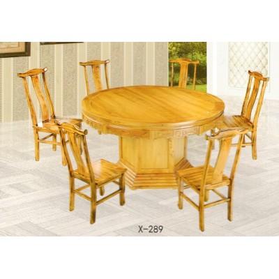 实木圆餐桌新中式仿古四川小叶楠餐厅组合简约现代红鑫兴家具