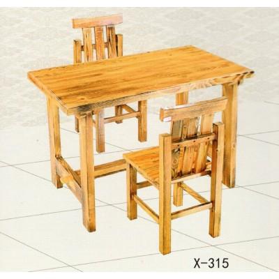 老榆木餐桌全实木餐桌椅自然原木饭店餐厅简约餐桌椅组合鑫兴家具