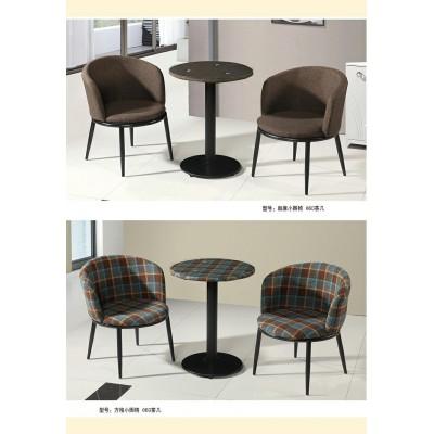 圆桌咖啡店洽谈接待谈判桌椅组合简约休闲餐桌椅组合