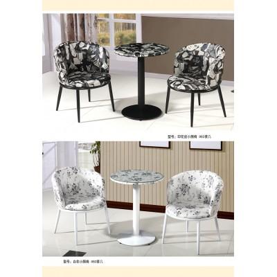 欧式实木三件套餐桌椅扶手椅咖啡桌靠背椅子会客桌餐厅椅桌椅简约