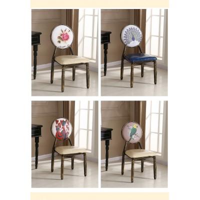 铁艺餐椅复古椅创意欧式餐椅防滑餐椅酒吧椅酒店背靠休闲餐桌椅子
