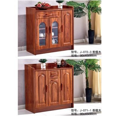 新中式餐边柜现代简约厅柜备餐柜实木边框拉手多功能储物柜玄关柜