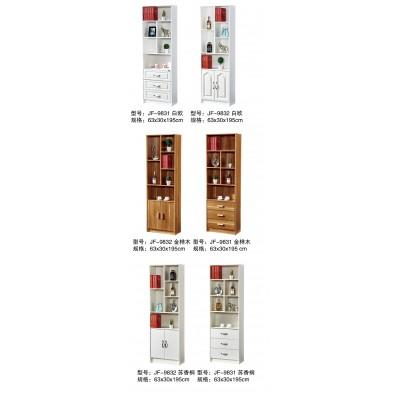 书柜现代简约储物架收纳柜白色烤漆博古架隔断柜多功能置物架书橱