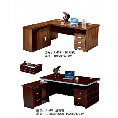 老板总裁桌 实木皮油漆主管大班台经理简约现代办公