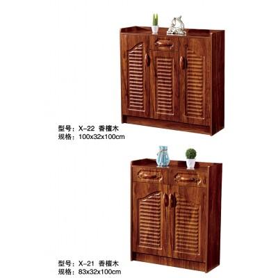 中式鞋柜简易防尘木鞋架子现代玄关柜多功能实木色大容量储物柜