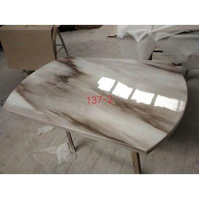 不锈钢大理石桌面简约现代台面 餐桌 餐台永晟理石