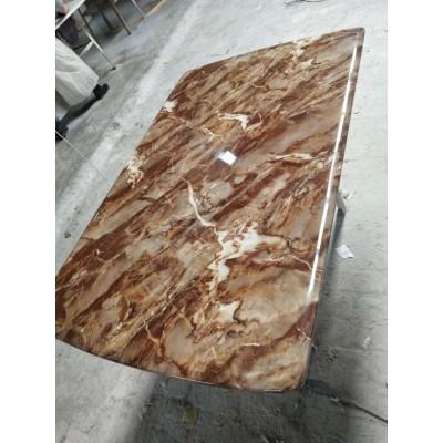 大理石台面餐桌 现代简约风格 长方形家用饭桌永晟理石