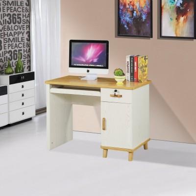 桌子带抽屉带锁简约小卧室化妆家用出租房 电脑台式桌