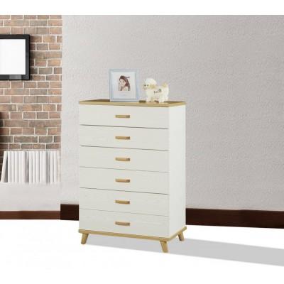 北欧实木板式五斗柜田园简欧式抽屉柜客厅卧室斗柜简约现代储物柜
